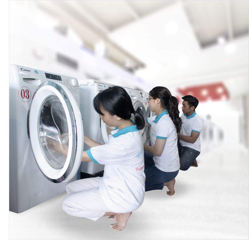 Thực hiện quá trình giặt sạch
