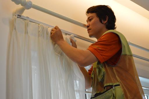 Quy trình dịch vụ giặt rèm cửa Dĩ An